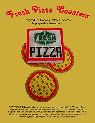 (Fresh Pizza Coasters: Plastic Canvas Pattern)