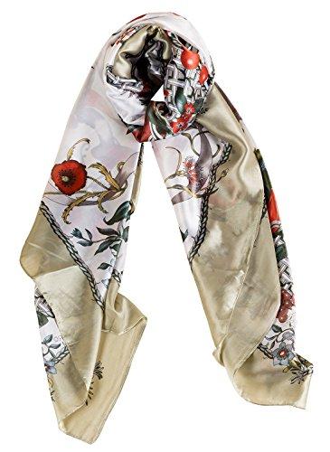 Bonito Aivtalk Elegante flores Bufanda de sat Bufanda Agradable Brillante mujer de con seda Bonito de rIrq1