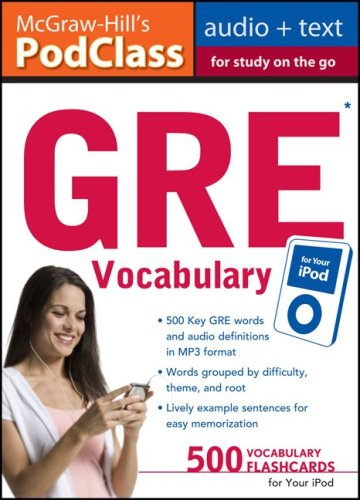 McGraw-Hill's PodClass GRE Vocabulary (MP3 Disk)