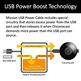 Mission USB Power Cable for Chromecast and