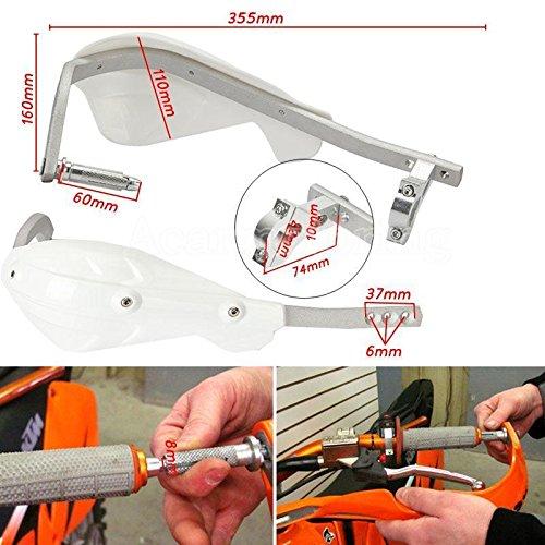 22mm 7//8 Paar Wei/ß Universal Motorrad//ATV Bike Handprotektoren Nachr/üstsatz Handsch/ützer Handprotektor Handschutz