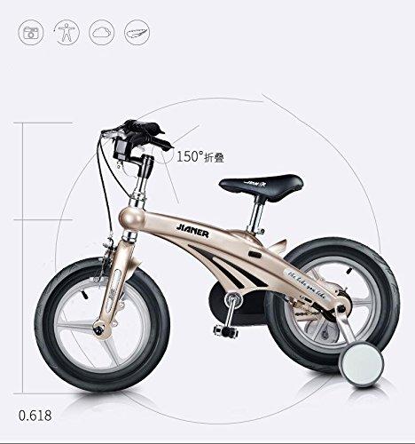 XQ 子供の自転車3歳6歳の赤ちゃんのキャリー12/14/16インチマウンテンバイク自転車自転車折りたたみ自転車 子ども用自転車 ( 色 : シャンパンゴールド しゃんぱんご゜るど , サイズ さいず : 12-inch ) B07C5MN92M 12-inch|シャンパンゴールド しゃんぱんご゜るど シャンパンゴールド しゃんぱんご゜るど 12-inch