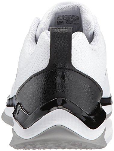 Adidas Mens Freak X Carbon Mid Cross Trainer Bianco / Argento Metallizzato / Nero