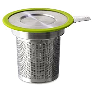 FORLIFE  Brew-in-Mug Extra-Fine Tea Infuser with Lid, Lime