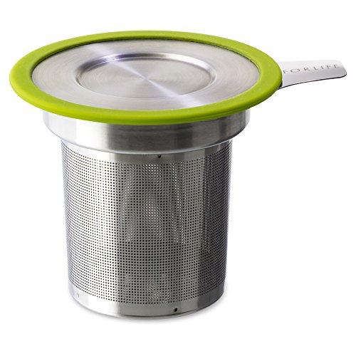 FORLIFE  Brew-in-Mug Extra-Fine Tea Infuser with Lid, - Stainless Steel Tea Infuser Personal