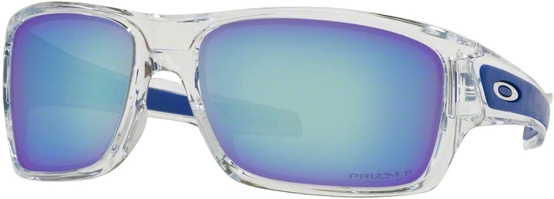 Oakley Turbine Sunglasses Polished Clear/PRIZM Deep Water Polarized