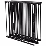 (US Stock) Fireplace Fence Baby Safety Pet Gate Dog Barrier Enclose Indoor Home, 25''x30'', Black