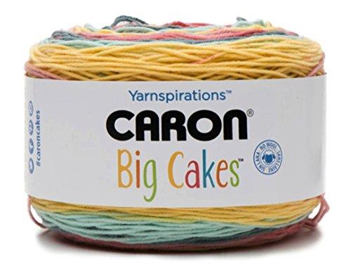 (Summer Berry Tart) - Caron Big Cakes Self Striping Yarn 603 yd/551 m310ml/300 g Each (Summer Berry Tart)