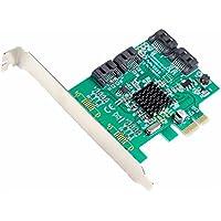 Syba Multimedia SI-PEX40064 Multimedia SATA III 4-port PCI-e Controller Card, with Full and Low Profile Brackets - 4 Serial ATA/600 Serial ATA Internal - PCI Express x1