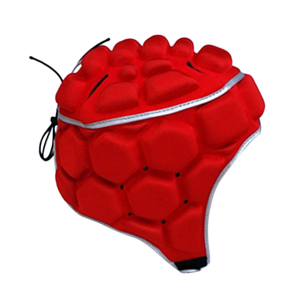 Non-brand Attrezzatura Regolabile del Cappello del Protettore del Casco della Guardia del Capo del Portiere di Calcio di Rugby di Calcio