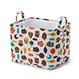 Every Deco Owls Pop Up and Collapsible Laundry Hamper With Handles - Organizer And Storage, 15.75 x 12 x 12