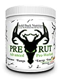 Pre-Rut - Advanced Pre-Workout - Insane Pumps, Endurance, Energy, and Focus - Creatine, Vitamins, Minerals - Made in the USA - GMP Certified Facility