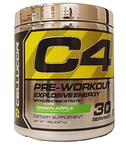 Cellucor 30 Servings C4 Pre-Workout Supplement for Men and Women, Green Apple, 6.87 Ounce