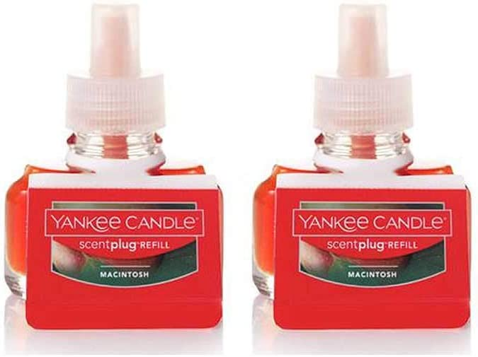 Yankee Candle Macintosh Scent Plug Refill Bottles 0.6 Oz (Pack of 2 Refills)
