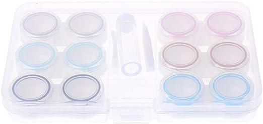 siwetg - Caja con 6 Cajas para Guardar Las lentillas, Transparente, antigoteo, portátil, para el Cuidado de los Ojos: Amazon.es: Hogar