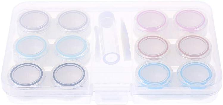 follwer0 - Juego de 1 estuche transparente para gafas, estuche para lentillas (color aleatorio) para gafas de lectura: Amazon.es: Salud y cuidado personal