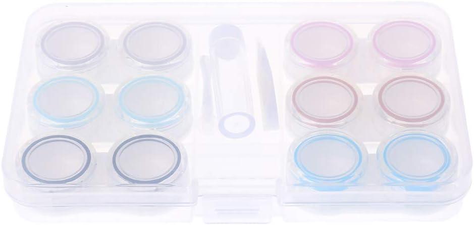 siwetg - Caja con 6 Cajas para Guardar Las lentillas, Transparente ...