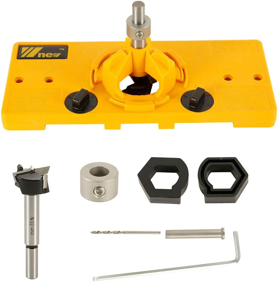 Color : Black YYONGAO Drill Bit 35//40mm Woodworking Punch Hinge Drill Hole Opener Locator Guide Drill Bit Hole Tools Door Cabinets DIY Template Woodworking Tool