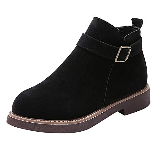 Botines Planos para Mujer Otoño Invierno 2018 Moda PAOLIAN Botines Militares cuña Casual Zapatos Terciopelo Señora Calzado Vestir Dama Botas Chelsea ...