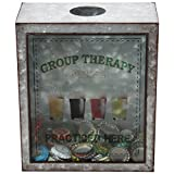 Lily's Home Group Therapy Practiced Here Beer Cap Holder, Shadow Box Makes the Ideal Gift for the Happy and Hydrated Beer Lover, Galvanized Metal (7 3/8'' x 4'' x 8 3/4'')