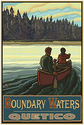 Boundary Waters Quetico Lake Canoers Forest Travel Art Print Poster by Paul A. Lanquist (24