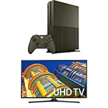 Samsung 55-inch 4K LED HD Smart TV + Xbox One S 1TB Console – Battlefield 1 Special Edition Bundle