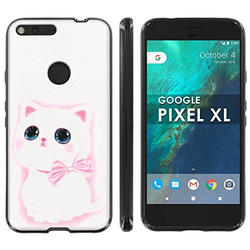 [Mobiflare] Google [Pixel XL] TPU Silicone Phone Case for [Black] Ultraflex Thin Gel Phone Cover - [Cute - Google Disneyland