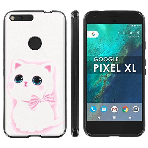 [Mobiflare] Google [Pixel XL] TPU Silicone Phone Case for [Black] Ultraflex Thin Gel Phone Cover - [Cute - Disneyland Google