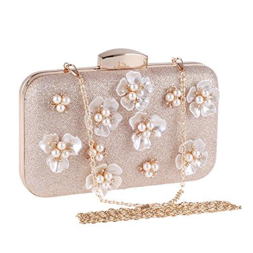 Bagood , Damen Clutch rosa aprikose One size