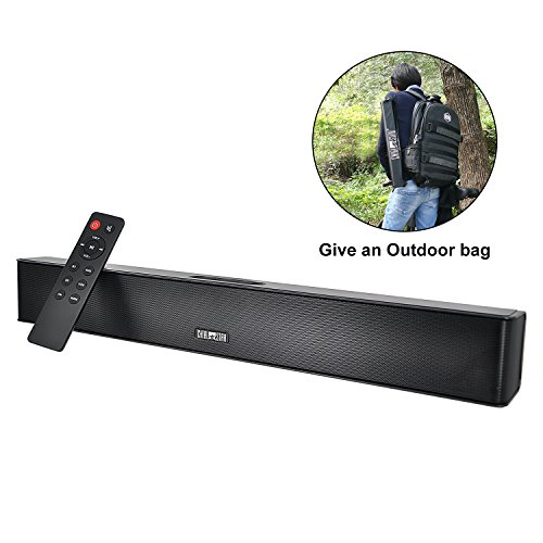 Wireless Sound Bar Outdoor Portable Bluetooth Waterproof IPX5 Speakers Powerful Bass Soundbar 21 Inch Home Audio System 10 hours Subwoofer Speaker with Remote Control for PC phones Tablets Gaming by Chialstar