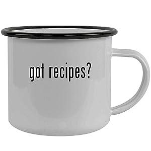 got recipes? - Stainless Steel 12oz Camping Mug, Black