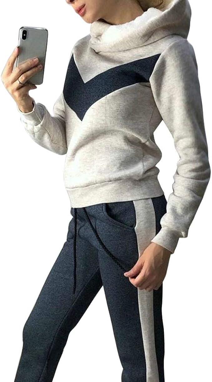 Damen Trainingsanzug Sport Fitness Jogginganzug Hose Hausanzug Sweatshirt Anzug