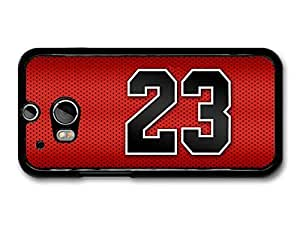 Michael Jordan MJ Number 23 Basketball Red Background case for HTC One M8 A7153 by runtopwell