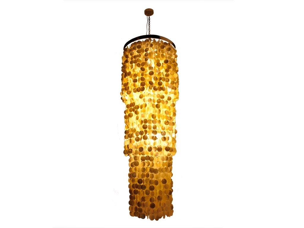 Kouboo round king chandelier with round capiz seashells gold hue kouboo round king chandelier with round capiz seashells gold hue dining room chandelier amazon arubaitofo Images