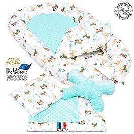 Set de recién nacidos, cojín, colchón, manta colorido Palulli