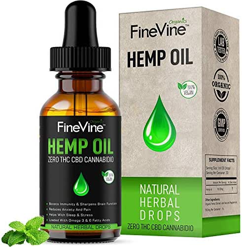 Hemp Oil Drops - 500mg - for Pain Relief, Stress, Anxiety Sleep Support - Best Natural Anti-inflammatory Full Spectrum, 100% Pure Herbal Supplement. 1fl (1 Pack)