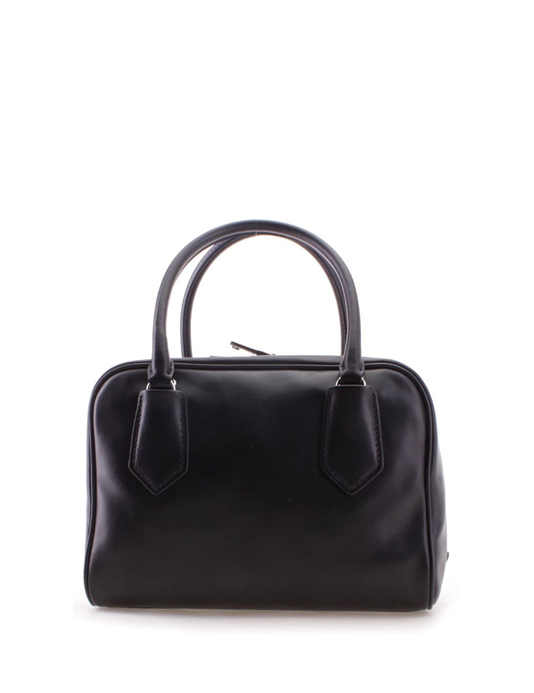 d710addd5522 Amazon.com  Prada Milano Leather Tote Womens Handbag Shoulder Bag - 100%  Guaranteed Authentic - Black Fashion Purse Bag (Pink Lining)  Clothing