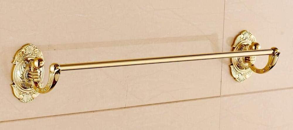 浴室用品クラシックタオルスタンド 真鍮バスルームアクセサリーセット、ブロンズアート刻まれたトイレブラシホルダー、ペーパーホルダー、タオルバー、タオルホルダーバスルームハードウェアセット、ローブフック (色 : Towel Ring)
