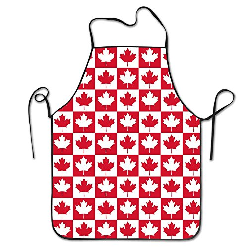 GivingLove Mens&womens Canadian Canada CA Flag Maple Leaf Kitchen Cooking Chef Baking Aprons With Adjustable Great Gift by GivingLove