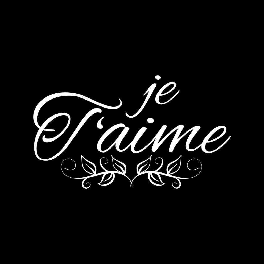 French Slogan Je Taime Kids Sweatshirt
