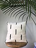 Black & White Vintage African Mudcloth Pillow Covers - 16 x16, 18 x18, 20 x 20, 25 x 25 - Message for custom Sizes - Cover, Africa