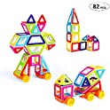Theefun Mini Magnetic Building Blocks 82-Piece Set