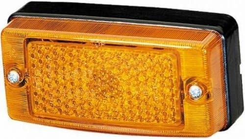 gelb 2PS004361-001 Hella Seitenmarkierungsleuchte Breite 124 mm R5W
