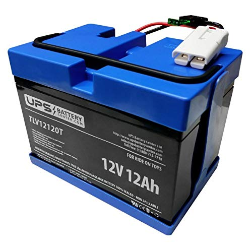 UPSBatteryCenter 12 Volt Compatible Battery for Rollplay Chevy Silverado Black 12V Ride on ()