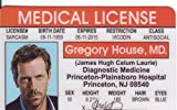 Hugh Laurie Dr. Gregory House Novelty Drivers License / Fake I.d. Identification for the Gregory House Md Tv Show Fans