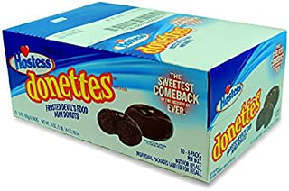 product image for Hostess Donettes Double Chocolate Mini Donut, 10 Count (CAKES & MUFFINS)
