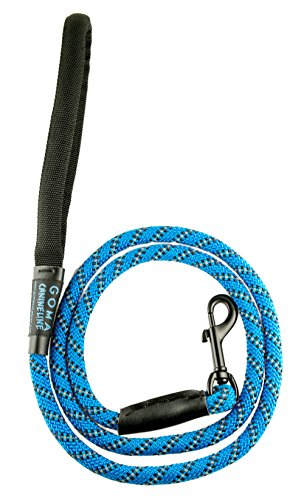 Best Soft reflective Dog training Leash- Chew resistant 4ft. bright nylon increased safety for night walking - for Medium and Large breeds - ergonomic anti slip grip - mountain climbing rope (Dog Boutique Online)