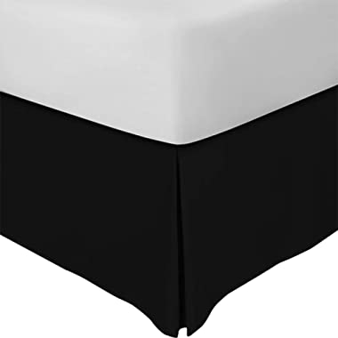 Utopia Bedding King Bed Skirt (Black)