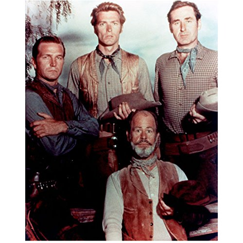 Rawhide (TV Series 1959 - 1965) 8 inch by 10 inch PHOTOGRAPH Cast Pic Holding Hats kn