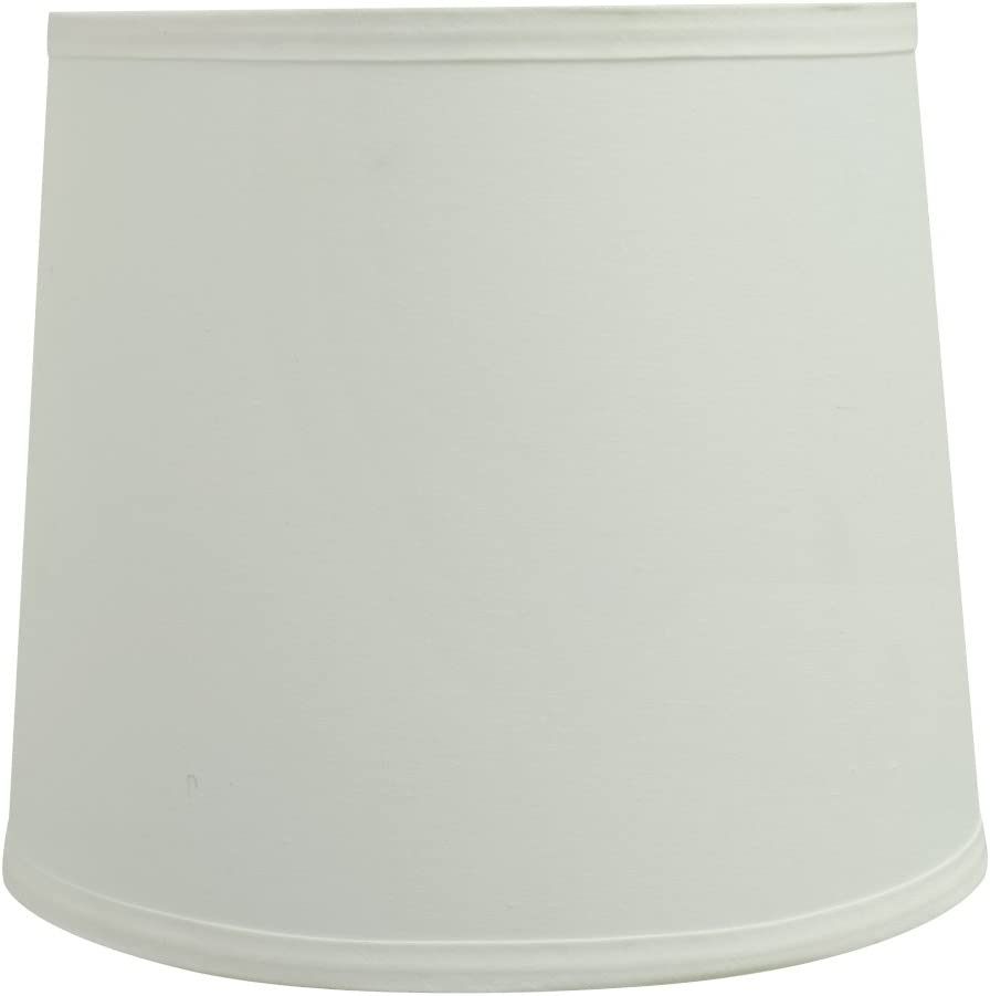 Aspen Creative 32741 1 2 Wide 9 x 10 1 2 x 9 Transitional Hardback Empire Shaped Spider Construction Lamp Shade, Off White